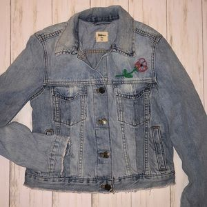 Gap Floral Embroidered Jean Jacket XXXS